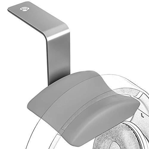 Soporte de suspensión para soporte de gancho para auriculares con auriculares para juegos de PC, soporte de aluminio para auriculares para escritorio, gris