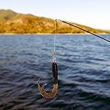 DAUERHAFT Cebos Jigging de Cebo Suave Realista de PVC 38 mm / 1.4in Forma de pez Realista, para Pescar(5#Chocolate)