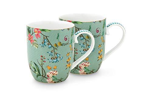 PiP Studio Set/2 Mugs Small Jolie Flowers Blue 145ml