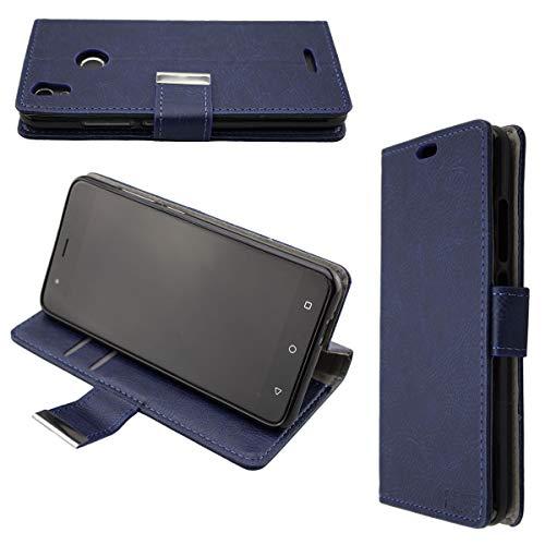 caseroxx Hülle für das Gigaset GS270, Taschen in verschiedenen Varianten (Flipcase, TPU-Bumper & Bookstyle) & (Bookstyle-Tasche, blau)