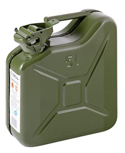 IWH 073857Chapa de Acero–Bidón de Gasolina, 5L, Color Verde
