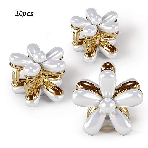 10STK Einfach Braut Perle Hochzeit Haarklammer Brauthaarnadeln Haarschmuck Haarspangen Klein Kopfschmuck für Frauen Mädchen …