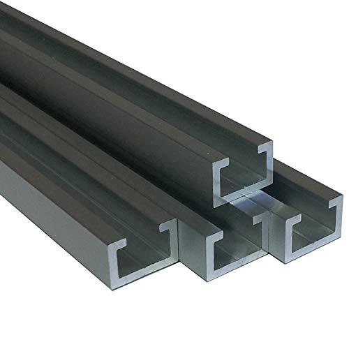 Alu C-Profil silber eloxiert EV1 11 x 17 x 4,5 x 2 mm für M8 Schraube oder Mutter (100 cm (7,00 €/m))
