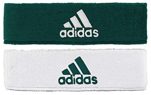 adidas Unisex Interval Reversible Headband, Team Dark Green/White, ONE SIZE