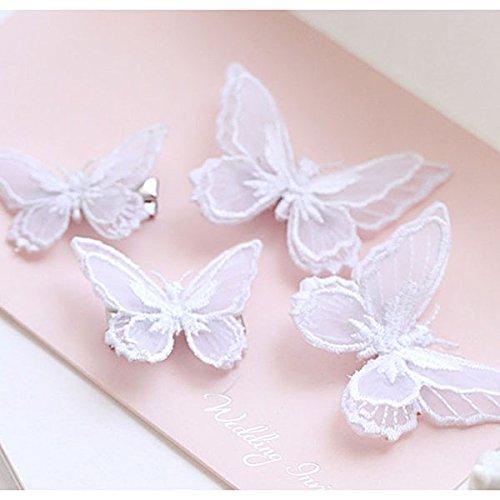 Frcolor 10 unids Bonnie encaje mariposa bordado Pinza de pelo clavija accesorios...