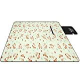 Lvguang Manta de Picnic Portátil Impermeable Plegable Coloridas para Camping Playa Jardín (Style#3, 43 * 28 * 9cm)