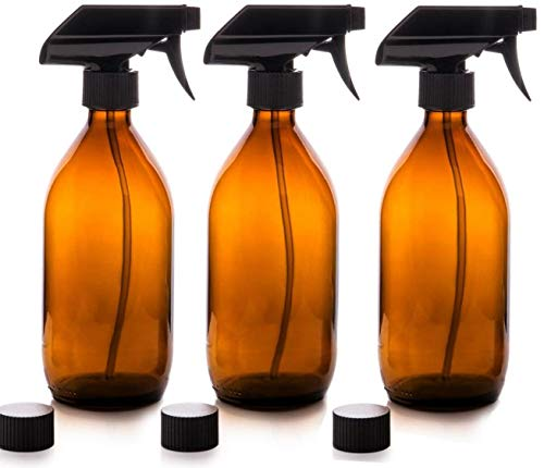 ZYCX123 Botellas del Aerosol de Color ámbar Esencial Aceite de aromaterapia Botella dispensador de cosméticos de Maquillaje del Recorrido del hogar Suministros 500ml 3 Piezas Pieza cosmética