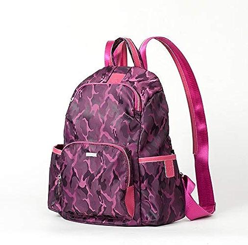 Sac à Dos, Sac à Dos pour Femme Anti-vol, Nouvelle Mode Camouflage Rose foncé (Moyen, habituelleHommest utilisé