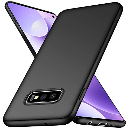 Funda Compatible con Samsung Galaxy S10E, Fina, Negra, Antideslizante, TPU Suave, antihuellas y antiarañazos, Color Negro
