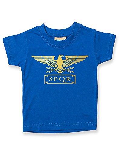 Standard SPQR T-shirt pour bébé garçon Motif aigle romain Doré métallique - Rouge - 2-3 ans
