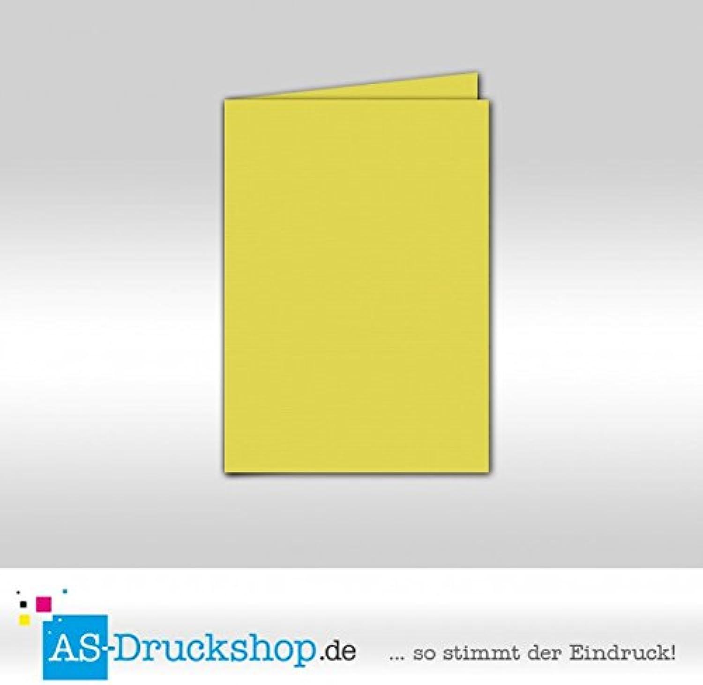 Faltkarte Doppelkarte - Limette 50 Stück DIN A5 B0794XWWJ8 | Der neueste Stil