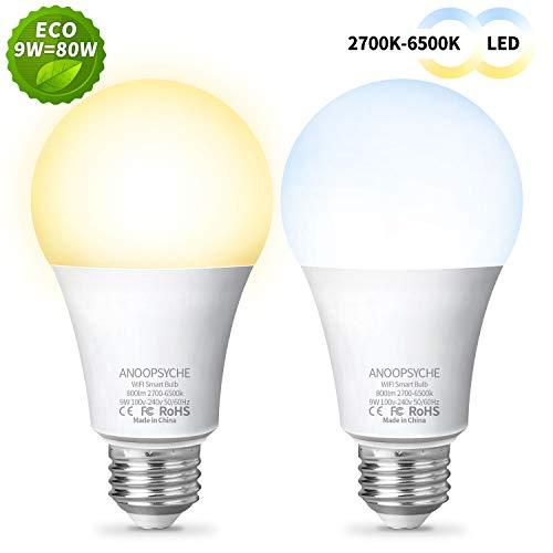 ANOOPSYCHE Ampoule Connectée Ampoule LED WIFI Intelligente...