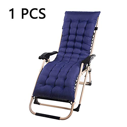 Your's Bath Sun Lounger Cushion Pads Portable Garden Patio Thick Padded Bed Recliner Relaxer Chair Seat Cover for Travel Holiday Indoor Outdoor (1Pcs, Blue)