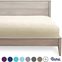 Bare Home Fitted Bottom Sheet Queen - Premium 1800 Ultra-Soft Wrinkle Resistant Microfiber - Hypoallergenic - Deep Pocket (Queen, Sand)