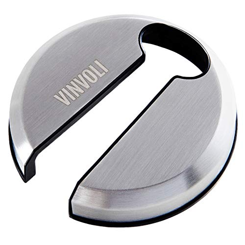 VINVOLI Wine Foil Cutter [Pack of 2] - New 2021 Wine Foil Cutter Tool - Foil Cutter for Wine Bottles - Wine Cutter Foil Opener Neck Label Remover - Wine Top Seal Cutter - Wine Bottle Foil Cutter