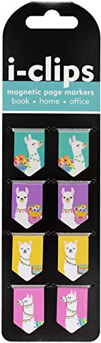 Llamas i-clips Magnetic Page Markers (Set of 8 Magnetic Bookmarks)