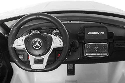 RC Auto kaufen Kinderauto Bild 2: Nitro-Motors 2-SITZER Kinderauto Mercedes GLS63 AMG 2x35W Elektroauto Kinderfahrzeug GLS GLE (Weiss)*