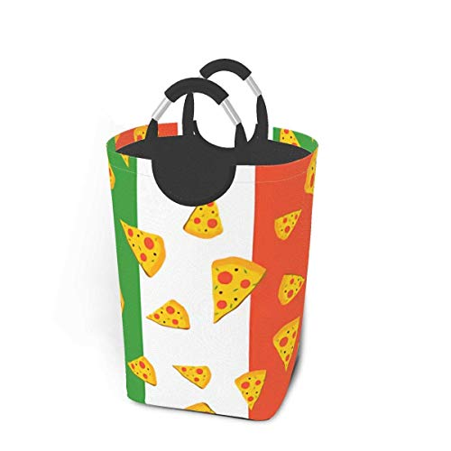IUBBKI Collapsible Pizza Storage Bin Hamper Laundry Basket, Foldable Dirty Clothes Bag with Handles Home Bedroom Of.