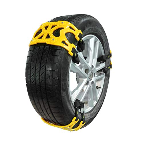 Neumático de Coche Cable de Bloque Antideslizante Cadena de Neumático de Nieve Reutilizable Bloque Antideslizante Caucho Universal Nylon Cadena de Barro de Nieve Salón R15-R25 (6 piezas) Zhhlaixing