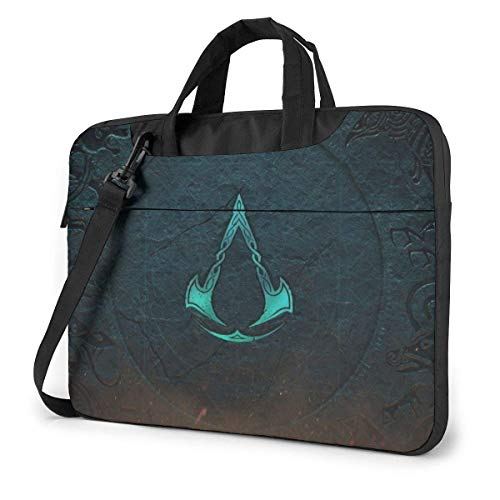 Hdadwy Assassin's Creed Laptop Bags Laptop Protective Cases Hand held One Shoulder Shockproof Oxford Laptop Protective Case/Tablet PC Briefcase Compatible Bag 15.6inch