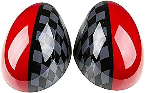 XGFCNB Fundas de espejo de estilo JCW laterales para puerta de coche,...