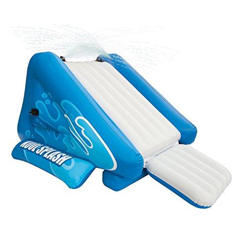 Intex Kool Splash Inflatable Pool Water Slide & Swimline Inflatable UFO Chair