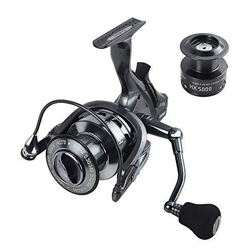 Hirisi Tackle Carp Fishing Reels Free Runner with Extra Free Spool HX (HX6000)