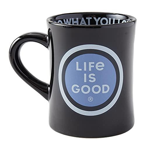 Life is Good. Diner Mug LIG Coin, Jet Black