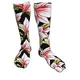 SunnyWarm Flower Sportsocken Gepolsterte Wandersocken Crew Athletic Socks für das Gehen im Freien...