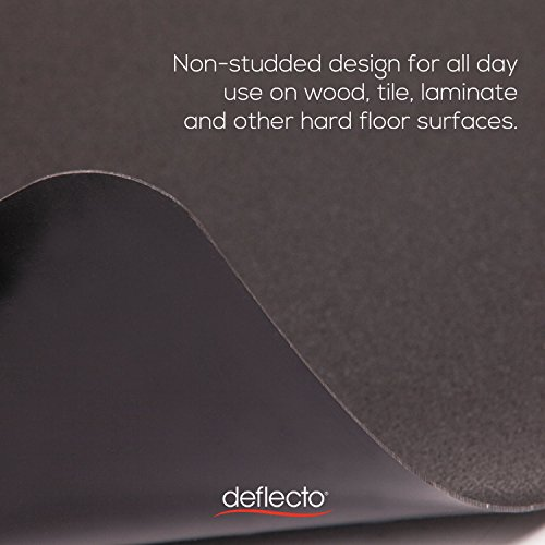 deflecto CM21242BLK EconoMat Anytime Use Chair Mat for Hard Floor 45 x 53 Black Photo #5