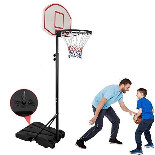Kids Portable Height Adjustable Basketball Hoop Stand, 28 Inch Backboard, Basketball Goals Indoor/Outdoor