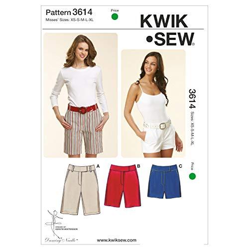 Kwik Sew K3614 Fitted Shorts Sewing Pattern, Size XS-S-M-L-XL