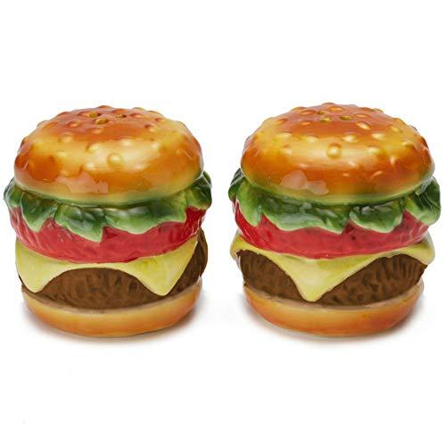 Streamline Ceramic Cheeseburger Salt & Pepper Shaker Set
