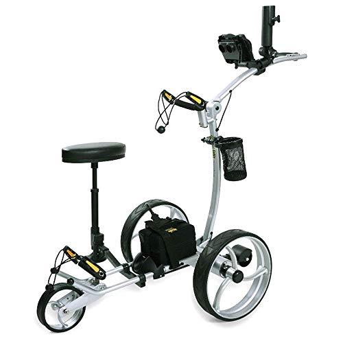 Best Deals! Bat-Caddy X8 Pro Electric Golf Push Cart 12V 20Ah Lithium Battery Silver