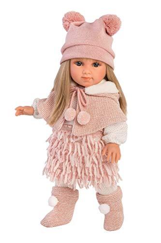 Llorens LL53525 Puppe Elena mit blonden Haaren und blauen Augen, Fashion Doll mit weichem Körper, inkl. trendigem Outfit, 35cm