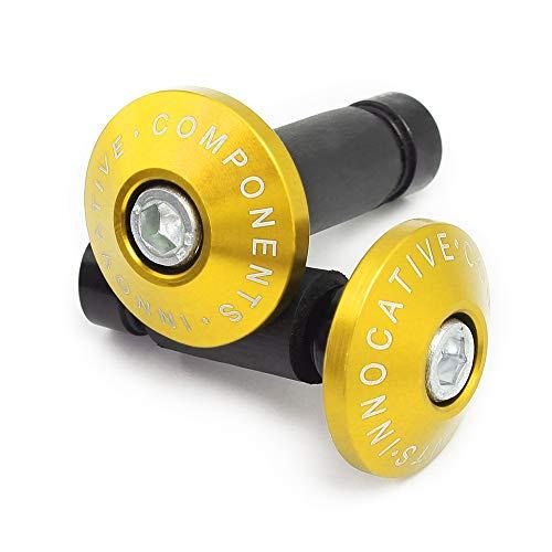 Ø22mm (7/8') Contrappesi per manubrio,Set Moto Manubrio Blocco Manopole Tappo Alluminio universali,Oro