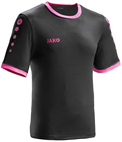 JAKO leichtes Team-Trikot schwarz-pink Unisex für Kinder Größe 164 Casual oder Sport Shirt super Jungen und Mädchen