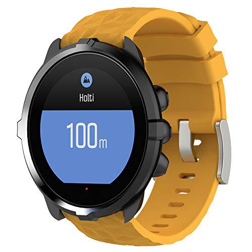 Shieranlee Armband für Suunto 7,24MM Ersatz Silikon Wechselarmbänder Fitness Uhrband Sport Uhrenarmbänder für Suunto Spartan Sport Wrist HR Baro/Suunto 9 /Suunto D5