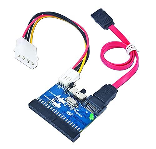 Gembird Bi-direcional SATA/IDE Converter - Adaptador bidireccional IDE/SATA, 150Mbps, Color Negro