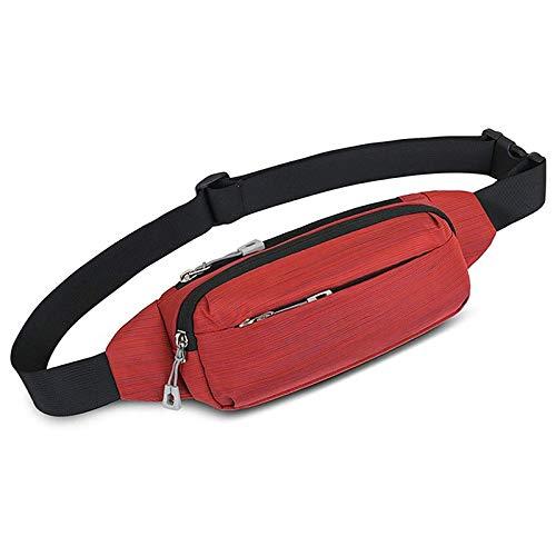 JTKDL Bolsa de Cintura de Tela Oxford Viajar Corriendo Casual Manos Cintura Gratis Paquete Crossbody (Color : Gray)