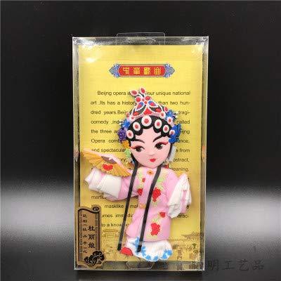 China Pekín Opera Frigorífico Imán PVC Opera Cara Personajes Decoración Inicio Accesorios Accesorios Recuerdo Regalo Magnético Refrigerador Pegatinas (Color : Du Li Niang)