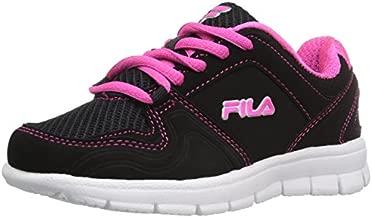 Fila Girl's Speed Runner Skate Shoe, Black/Pink Glo/Metallic Silver, 2.5 M US Little Kid