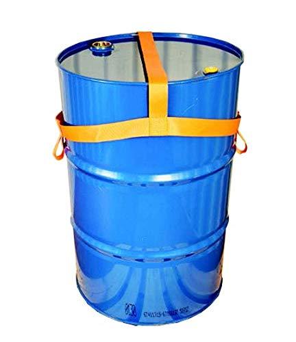 EPSS Zertifizierte Fasssicherung aus Lashing Gurtband - einweg - mehrweg - Einfass - Zweifass - 120 Liter Kunststofffass - 200 Liter Stahl und Kunststofffass