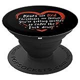 Alternatives Valentinstag Gedicht Anti Valentinstag - PopSockets Ausziehbarer Sockel und Griff für Smartphones und Tablets