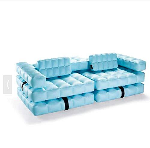 Pigro Felice Modul'Air 3-in-1 zwembad float/dubbele ligstoel opblaasbare sofa, PVC-kunststof, waterblauw, 234x117x72 cm