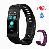 AK1980 Fitness Tracker Watch with Heart Rate Monitor Sleep Monitor Smartwatch Step Tracker