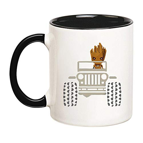 Mr.Fixed - Jeep Coffee Mug - Jeep Root mug - Funny Mug - Gift for Jeep Lover - Coffee Lover Gift - Jeep Coffee Cup (Black), 11oz Ceramic Coffee Mug, Unique Gift, Best Gifts For Jeep Lovers