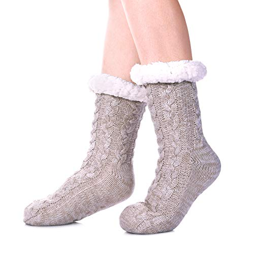 SDBING Women's Winter Super Soft Warm Cozy Fuzzy Fleece-lined Christmas Gift With...