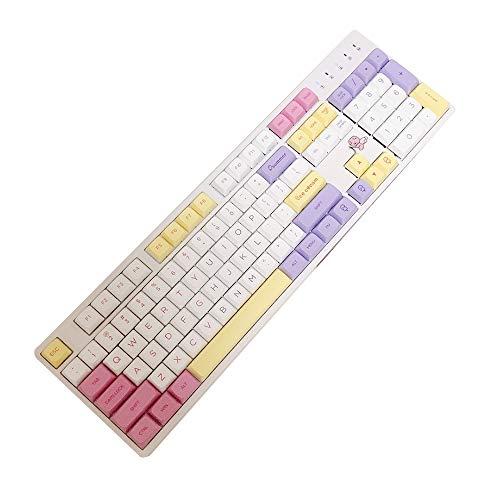 juqingshanghang1 151 Tasten Eiscremefarben-Design PBT-Tastencaps für mechanische Gaming-Tastatur Englisch bunt