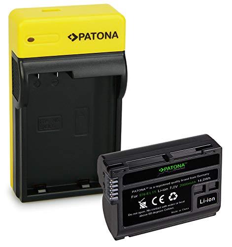 PATONA Premium Batería EN-EL15b con Estrecho Cargador Compatible con Nikon 1 V1, Z6, Z7, D7000, D7100, D7200, D7500